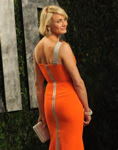 a back shot of cameron diaz s body con gown we love the