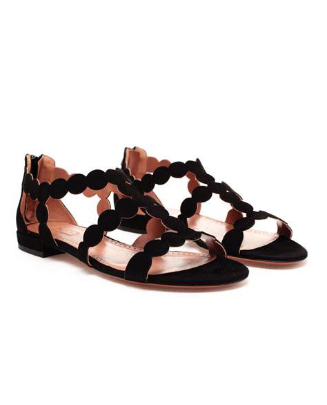 alaia sandals azzedine ala 239 a scalloped suede sandals wacoz