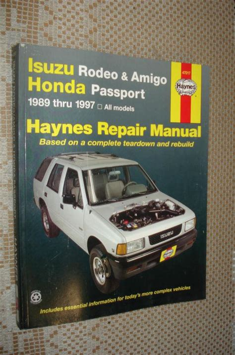 how to download repair manuals 1997 honda passport electronic valve timing buy 1989 1997 isuzu rodeo amigo honda passport service manual shop book 95 94 93 motorcycle in