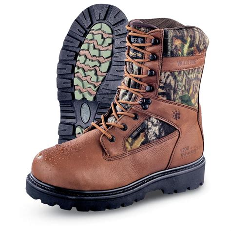 guide gear mens sports hunting boots 1200 gram men s wolverine 174 gore tex 174 1 200 gram thinsulate ultra