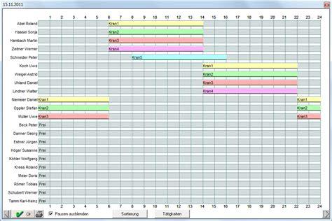 Vorlage Word Projektplan Kranbelegung Tagesplan