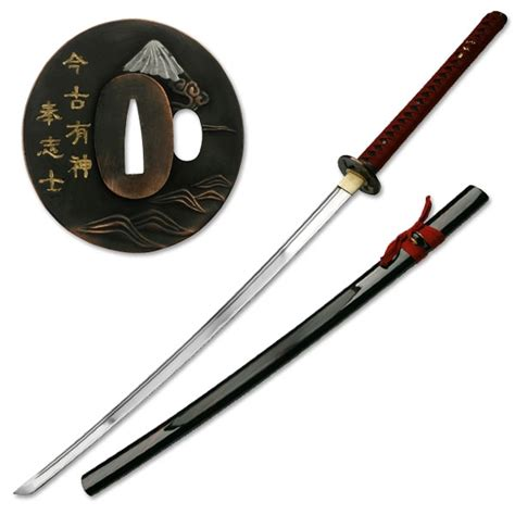 Fluppy Set Overall Maroon Bb sharpened carbon steel katana with sword scabbard