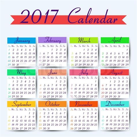 printable calendar vector calendar 2017 vector calendar template ready to print