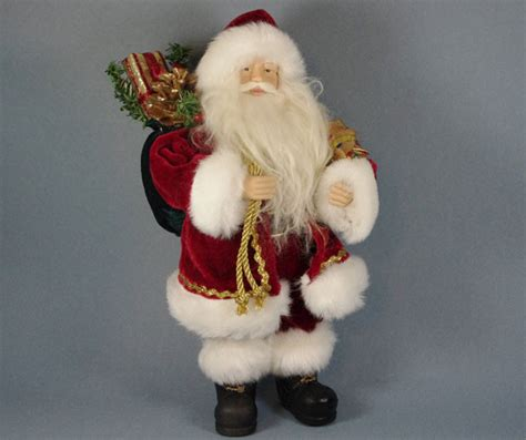 santa figure quot traditional santa with gifts quot santa claus figure