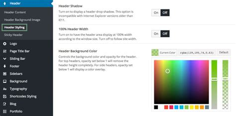 avada theme upload header top header position theme fusion