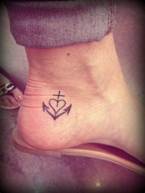 cross in heart tattoo anchor tattoos designs ideas and meaning tattoos for you