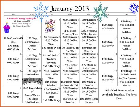 Church Calendar Templates Calendar Image 2019 Free Church Calendar Templates