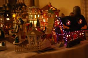 file decorative christmas village jpg wikimedia commons