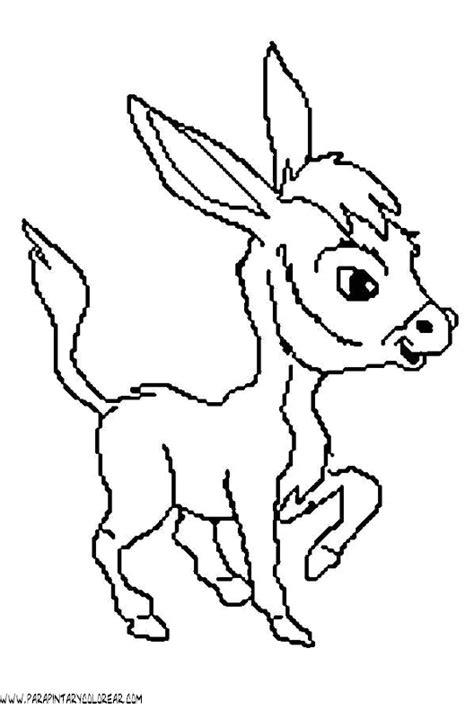 imagenes para colorear burro dibujos para colorear de burros 004