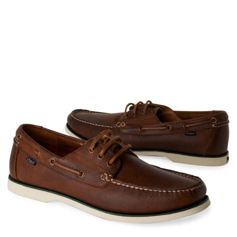 ralph boat shoes ralph bienne boat shoes brown in brown for lyst