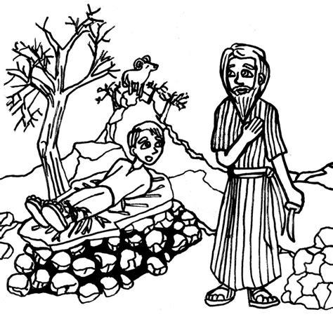 coloring page abraham and isaac free coloring pages of sarah abraham and isaac