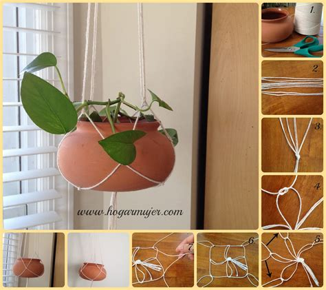 How To Make A Plant Hanger With Rope - diy plant hanger rope fabdiy