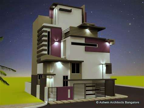 Indian Home Design Ideas With Floor Plan by Beautiful Front Elevation House Design By Ashwin Architects