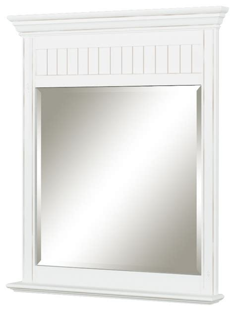 cottage style bathroom mirrors cottage retreat mirror antique white beach style