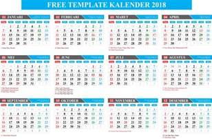 gratis free template kalender 2018 lengkap