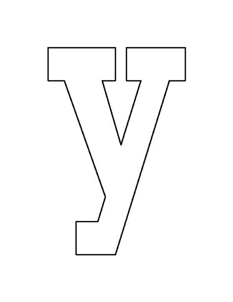 letter n pattern use the printable outline for crafts lowercase letter y pattern use the printable outline for