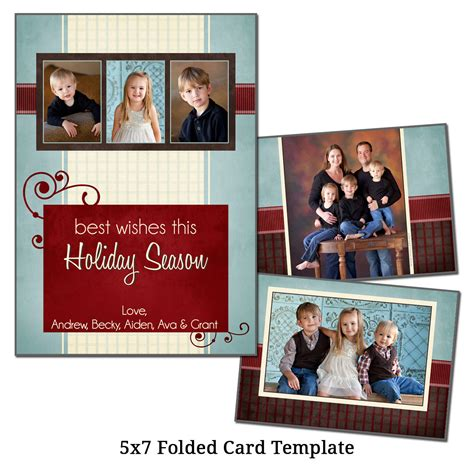5x7 Folded Card Template Photoshop by 5x7 Folded Card Template Card