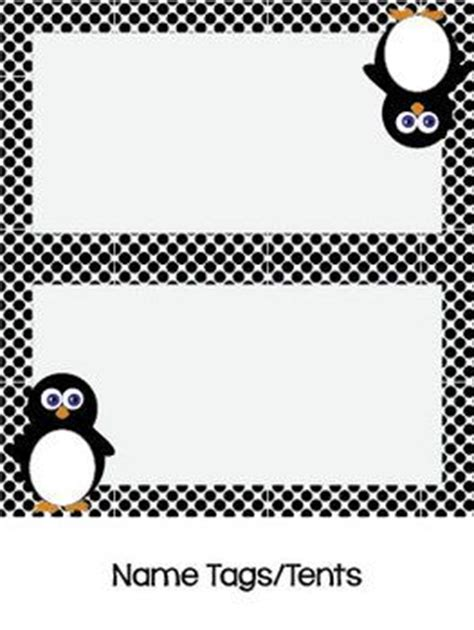 printable penguin name tags 45 best images about cubby tags on pinterest owl labels