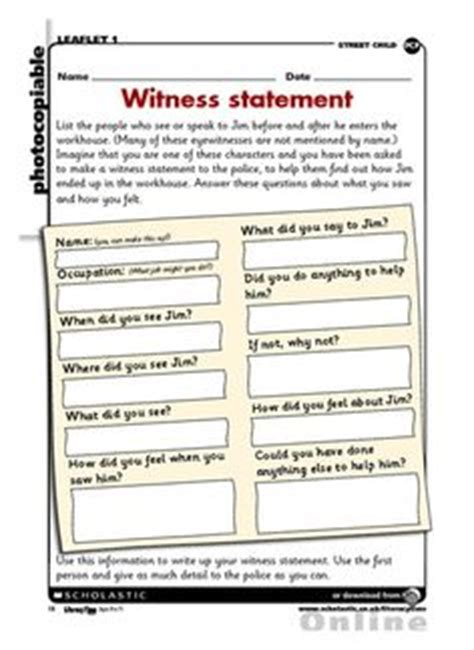eye witness report sle 1000 images about year 5 literacy on