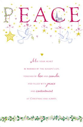 religious christmas card peace