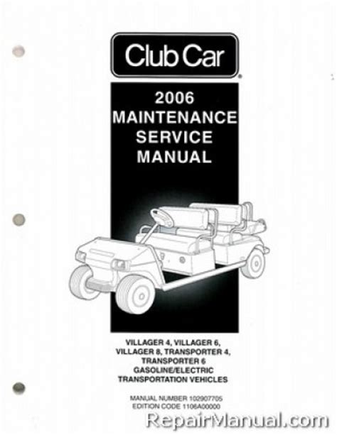 service manual where to buy car manuals 2006 ford e250 2006 club car transportation ds villager 4 6 and 8 transporter 4 and 6 gas and electric