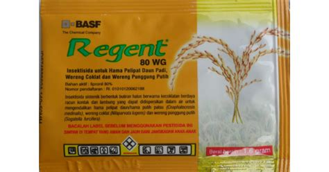 Regent 80 Wg jual obat insektisida regent 80wg 1 6 gr hp 085608566034