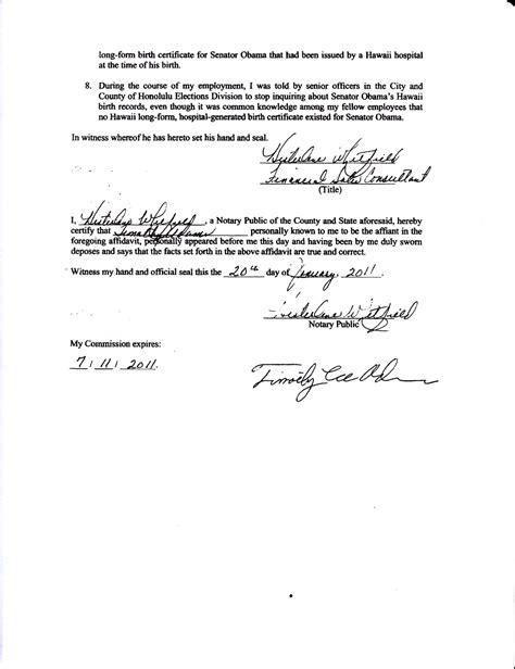 signature page of affidavit dare call it treason