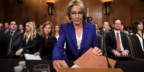 betsy devos rich devos trump education nominee betsy devos lied to the senate