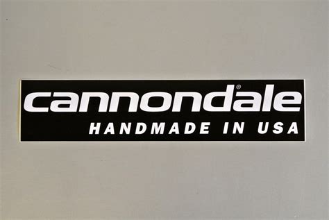 Handmade Stickers - cannondale sticker handmade in usa
