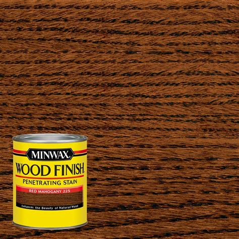 Stain Or Paint Kitchen Cabinets by Minwax 1 Qt Wood Finish Red Mahogany Oil Based Interior