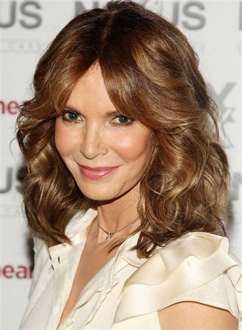 wavy medium length hair cuts for middle aged women medium length layered curly hairstyles