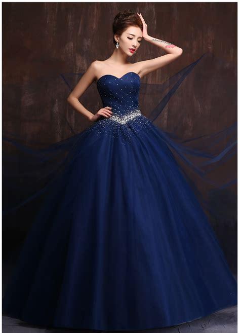 custom made color and size vestidos de noiva royal blue