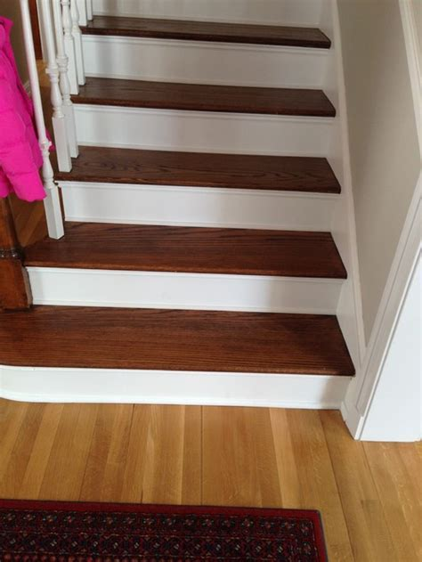 Stain floors to match stairs?