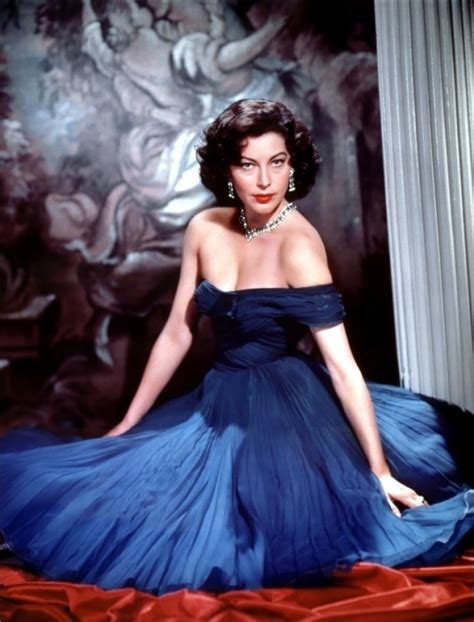 who is the barefoot contessa ava gardner ava gardner in a blue evening gown in the