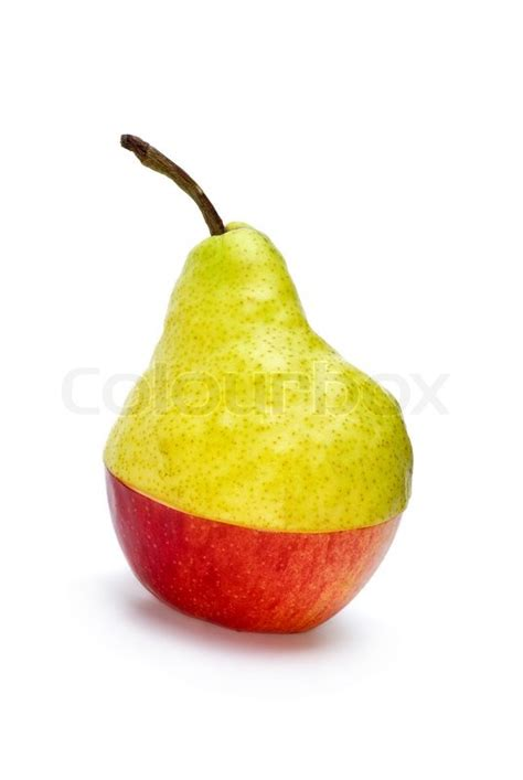 half aple and half pear quot hybrid quot stock photo colourbox