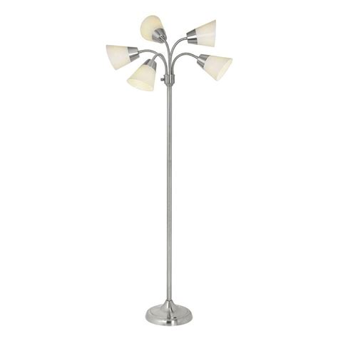 hton bay 66 in satin nickel floor l 524505 the
