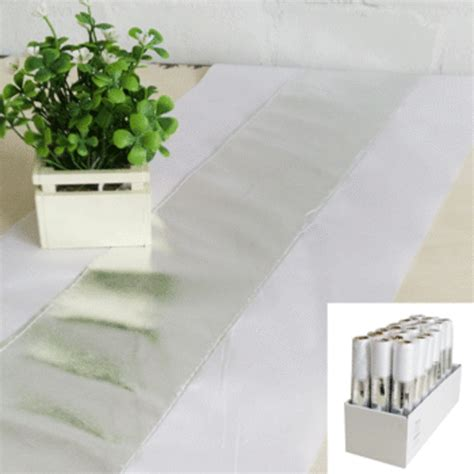 white and silver table runner white silver table runner pk 1 tableware