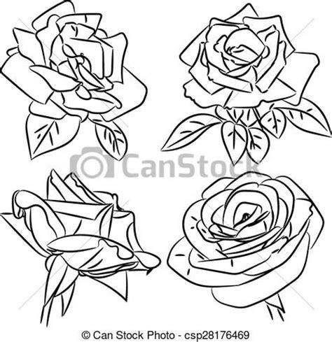 imagenes en negro y rosa clip art de vectores de dibujos rosas blanco negro