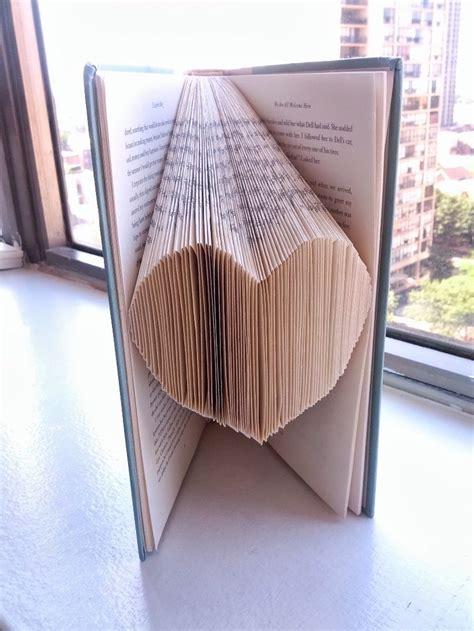 folded book art pattern heart diy heart folded book art thing my home needs