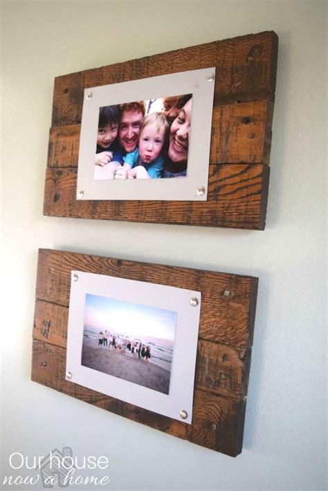 Simple Handmade Photo Frames - best 25 pallet picture display ideas on