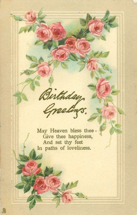 birthday  roses pink christmas vintage christmas cards birthday