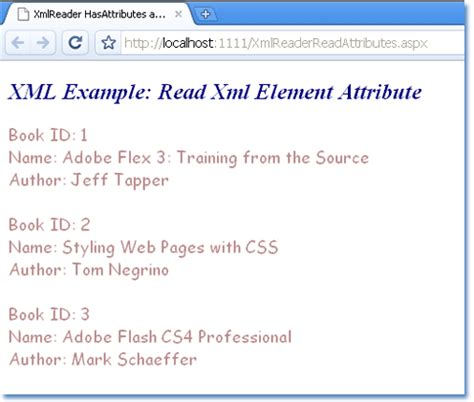 xml tutorial element attribute how to read attribute in asp net xml