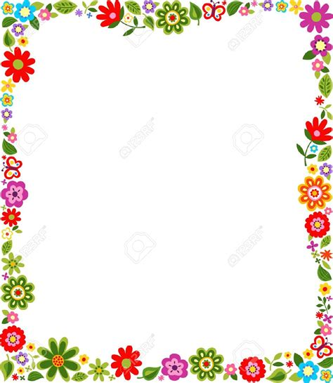 printable borders with flowers floral border images bbcpersian7 collections