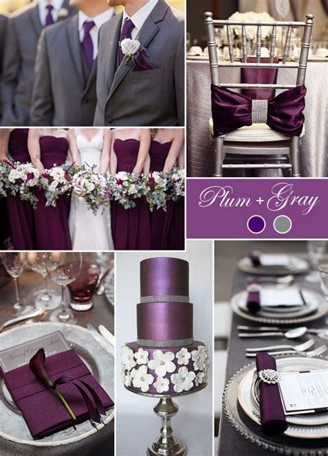 plum wedding colors plum and grey wedding colors