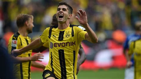 christian pulisic goals christian pulisic registers goal assist in dortmund s