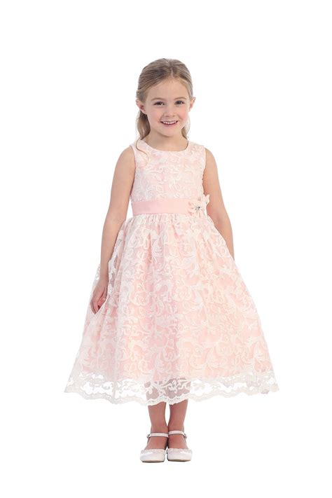 blush colored flower dresses blush sleeveless sequin lace flower dress