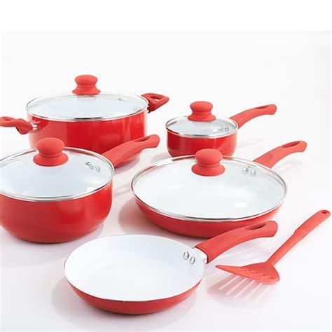 healthy living 10pc ceramic cookware set boscov s