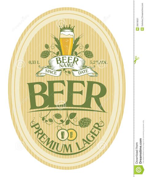 design beer label illustrator beer label design stock vector illustration of mark