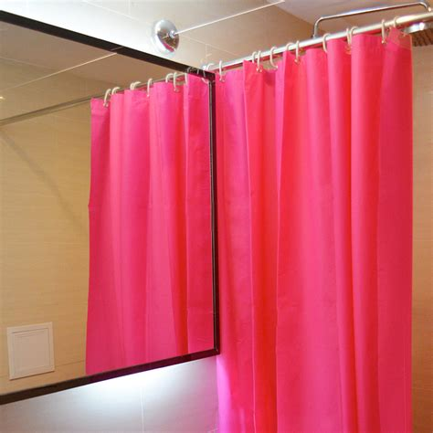 red bathroom shower curtains solid modern bathroom usage rose red shower curtain