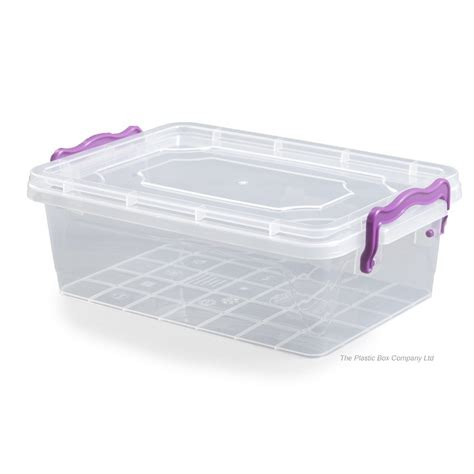 large flat storage containers buy 8lt hobbylife multi plastic storage box with clip on